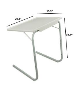 Table Portable Table Adjustable Dinner Laptop Tray Folding D Table 1018