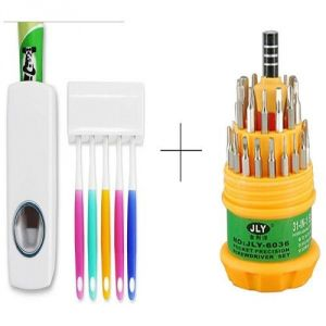 Buy Automatic Toothpaste Dispenser With Free Jackly 31 In 1 Screwdriver Set Toolkit - Tdistl