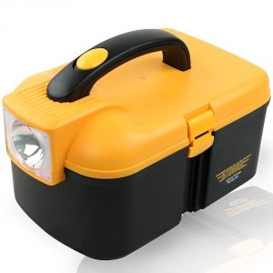 Hardware, Tools - Multifunctional Storage Box With LED Torch Cum Tool Box Car Kit - ( Code - TOOLBX2198)