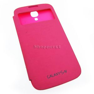 Pink Samsung Galaxy S4 I9500 Table Talk Leather Flip Cover