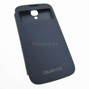 Blue Samsung Galaxy S4 I9500 Table Talk Leather Flip Cover Back Case