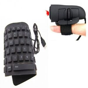 Combo Of Flexible Keyboard & Optical Finger Mouse - Usfmus