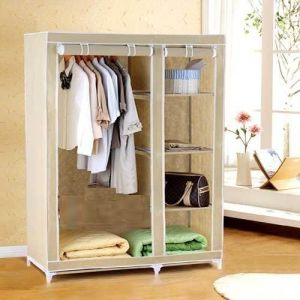 Deluxe Canvas Foldable Wardrobe Cupboard
