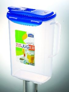 Lock&lock Aqua Fridge Door Water Jug With Flip Top Lid, 2 Litres