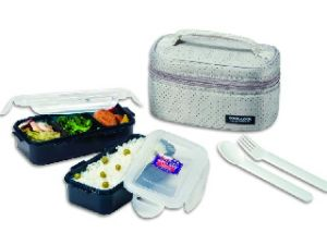 Lock&lock Gray Lunch Box Set, 2-pieces