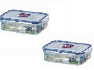 Lock&lock Classics Rectangular Food Container With Leak Proof Locking Lid, 360ml