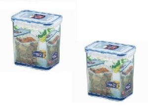 Lock&lock Classic Rectangular Food Container With Leak Proof Locking Lid, 1.5 Litres - (dode-hpl812h X 2)