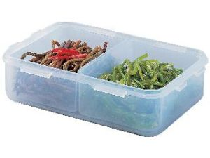 Lock&lock Classics Short Rectangular Food Container With Divider, 550ml