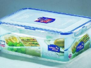 Lock&lock Classics Rectangular Food Container With Divide, 2.6 Litres