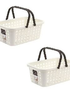 Lock&lock Living Basket With Handle Small, White
