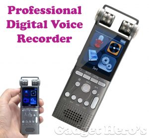 Voice Recorders - Gadget Hero's 8GB Portable Rechargeable Multifunctional Digital Voice Recorder