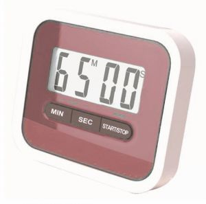 Gadget Hero's Compact Lab & Kitchen Timer With Alarm, Large Digital LCD Display. With Table Stand & Fridge Magnet ( Red )