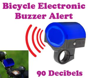 Bike Styling Products - Gadget Hero's Electronic Bicycle Bike, Bell Horn Buzzer Siren Alarm, 90dB