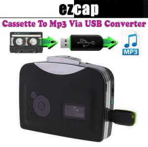 MP3 Players & iPods - EZCAP Tape Recorder Cassette to USB MP3, Analog to Digital Audio Converter