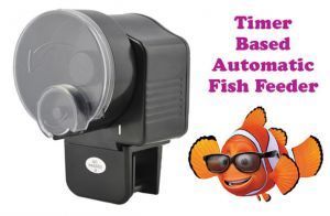 Pet Supplies - Timer Based Automatic Aquarium Fish Feeder 2 X AA Battery Ope
