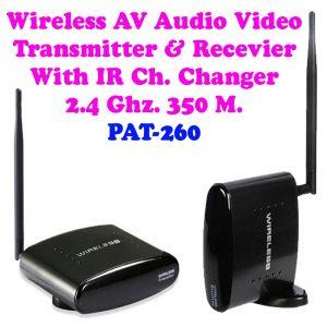 Audio Receivers - Gadget Hero's 2.4 GHz. 350M. Wireless AV. Audio Video Transmitter Receiver