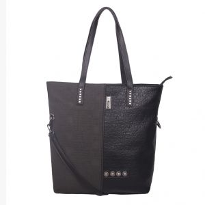 ESBEDA Black Solid PU Synthetic Totebag For Womens (Code - 4208 Black)   Black