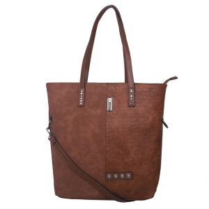 ESBEDA Brown Solid PU Synthetic Totebag For Womens (Code - 4211 Brown)   Brown