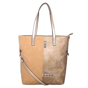 ESBEDA Gold Solid PU Synthetic Totebag For Womens (Code - 4213 Gold)   Gold