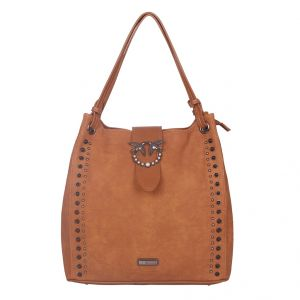 ESBEDA Brown Solid PU Synthetic Totebag For Womens (Code - 4216 Brown)   Brown