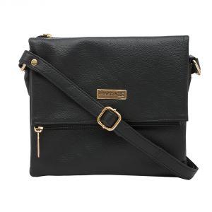 Esbeda Women's Clothing - ESBEDA Black color Solid Drymilk Slingbag for women (Product Code - 1736)