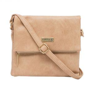 Esbeda Women's Clothing - ESBEDA Beige color Solid Drymilk Slingbag for women (Product Code - 1737)