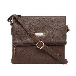 Esbeda Women's Clothing - ESBEDA Dark Brown color Solid Drymilk Slingbag for women (Product Code - 1739)