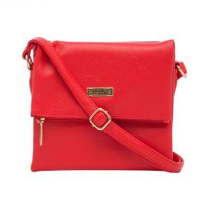 Esbeda Women's Clothing - ESBEDA Red color Solid Drymilk Slingbag for women (Product code - 1741)