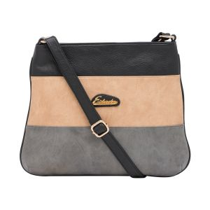 Esbeda Black Color Stripe Pu Synthetic Material Slingbag_1746 For Women