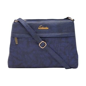 Esbeda D-blue Color Stripe Pu Synthetic Material Slingbag_ 1751 For Women