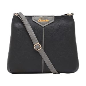 Esbeda Black Color Solid Pu Synthetic Material Slingbag_ 1752 For Women
