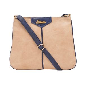 Esbeda Beige Color Solid Pu Synthetic Material Slingbag_ 1753 For Women