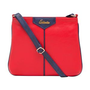 ESBEDA Red Color Solid Pu Synthetic Material Slingbag_1754  For Women