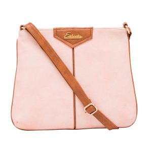Esbeda Pink Color Stripe Pu Synthetic Material Slingbag_ 1755 For Women