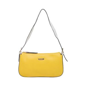 Esbeda Yellow/white Color Solid Pu Synthetic Material Hand Bag_ 1761 For Women