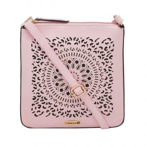 ESBEDA Pink Cutwork Pu Synthetic Material Slingbag For Women-1772