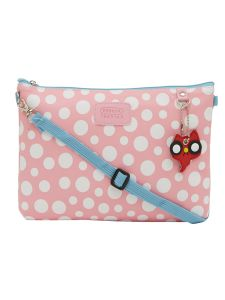 ESBEDA Pink Color Polka Dots Print Nylon Material Slingbag For Women-1791