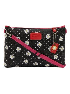 ESBEDA Black Color Floral Print Nylon Material Slingbag For Women-1802