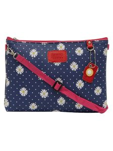 Esbeda D-blue Color Floral Print Nylon Material Slingbag For Women-1803