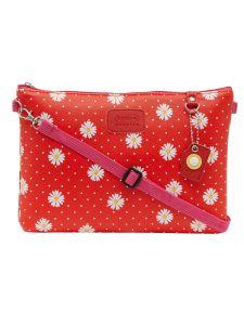 ESBEDA Red Color Floral Print Nylon Material Slingbag For Women-1804