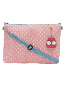 ESBEDA Pink Color Polka Dots Print Nylon Material Slingbag For Women-1810