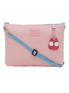 ESBEDA Pink Color Polka Dots Print Nylon Material Slingbag For Women-1813