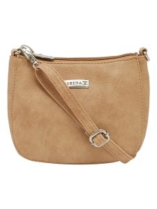 Esbeda Beige Color Solid Pu Synthetic Material Slingbag For Women-1814