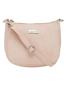 Esbeda Pink Color Solid Pu Synthetic Material Slingbag For Women-1815