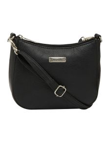 ESBEDA Black Color Solid Pu Synthetic Material Slingbag For Women-1816