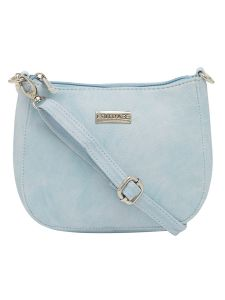 Esbeda Light Blue Color Solid Pu Synthetic Material Slingbag For Women-1818