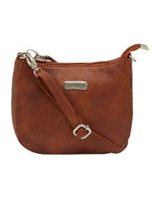 Esbeda Tan Color Solid Pu Synthetic Material Slingbag For Women-1820