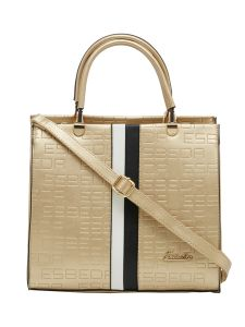 Esbeda P-gold Solid Pu Synthetic Fabric Handbag For Women-1831