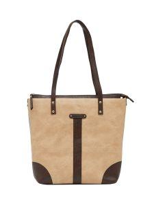 ESBEDA D-Blue-Beige Solid Pu Synthetic Fabric Handbag For Women-1844