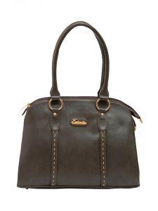 ESBEDA Grey Color Solid Pu Synthetic Material Handbag For Women-1862